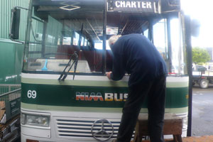 Bus windscreen replacement - Napier Glass